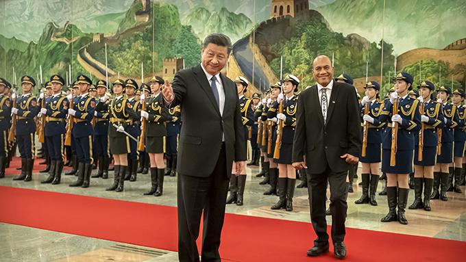 2020年1月6日,中国领导人习近平在北京人民大会堂会见外宾。(美联社)