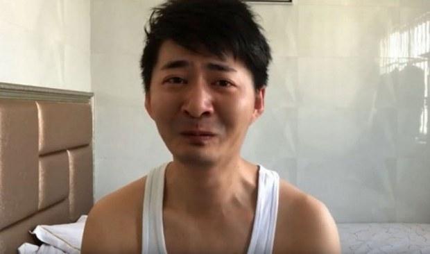 因报道武汉疫情而被中国当局监管的公民记者陈秋实(推特截图)