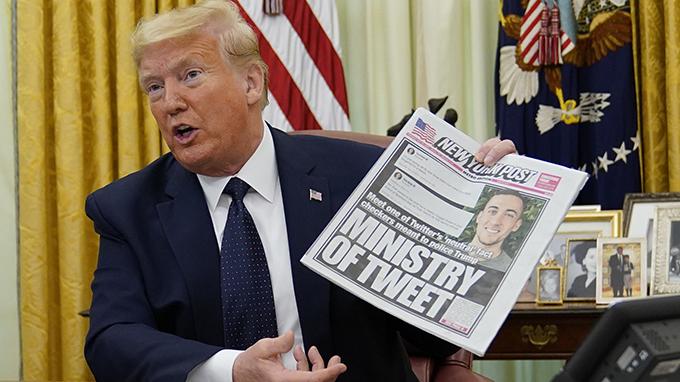 2020年5月28日,美国总统特朗普在签署行政命令前发表讲话(美联社)
