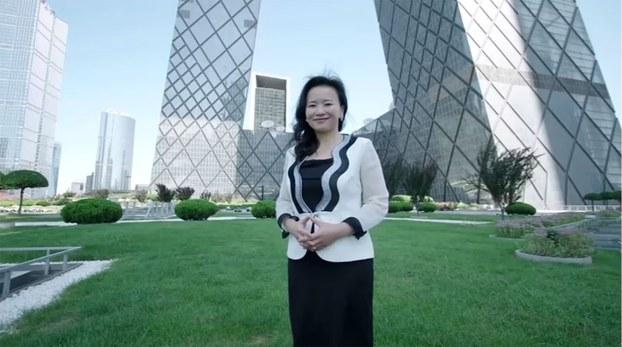 中国环球电视网澳大利亚籍华裔主持人成蕾(路透社/视频截图)