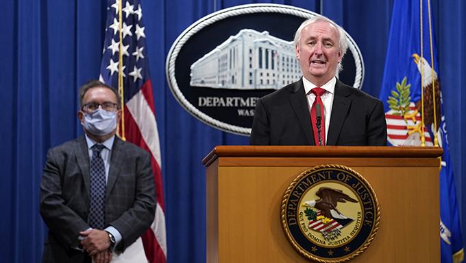 美国司法部副部长罗森(Jeffrey Rosen)(美联社)