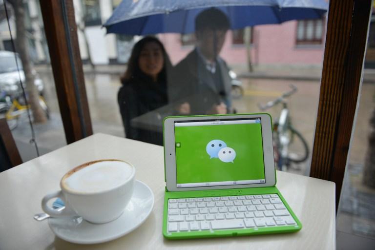 图片: 中国互联网公司腾讯开发的通讯软件微信。 (法新社资料图片)