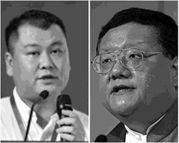 刘长乐(右)售出凤凰股卫视股份两周 其女婿涉非法集资被刑拘。(网络图片)