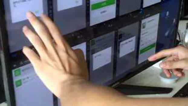 网络警察在监控大量微信群内的聊天内容。(媒体人提供/RFA资料图片)