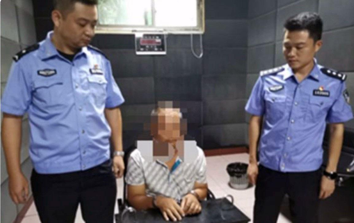 湖南省汉寿县公安局抓到五名在微信群骂警察的网民。(快报截图/乔龙提供)