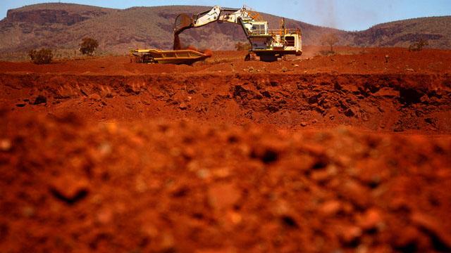 澳大利亚去年被中国经济制裁,但中国对澳大利亚铁矿石的需求强劲,使铁矿石价格飙升。(路透社)