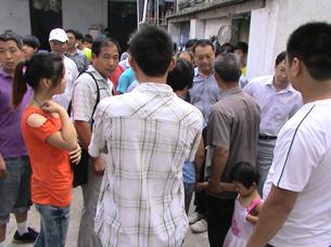 图片:安徽临泉姜寨镇家庭教会的活动遭到当局驱散。(教会提供/记者乔龙)