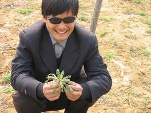 图片: 山东盲人维权人士陈光诚。 (自由光诚)