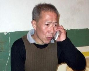 图片:秦永敏去年出狱当天所摄。(维权人士提供/记者乔龙)