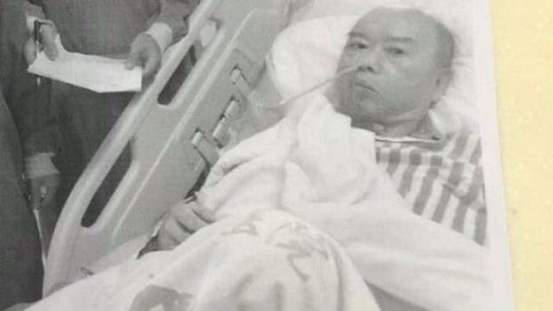 纪斯尊出狱后在福建漳州一家医院接受治疗(被访者提供,拍摄日期不详)