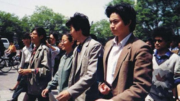 资料图片:前八九学运领袖周勇军(右一)。(图源:博讯网)
