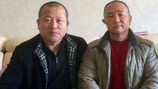 资料图片:戈觉平(右)健康状况每况愈下,令人担忧。(维权人士独家提供)