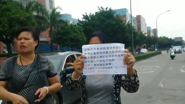 李碧云抗议当局打压(受访者独家提供)