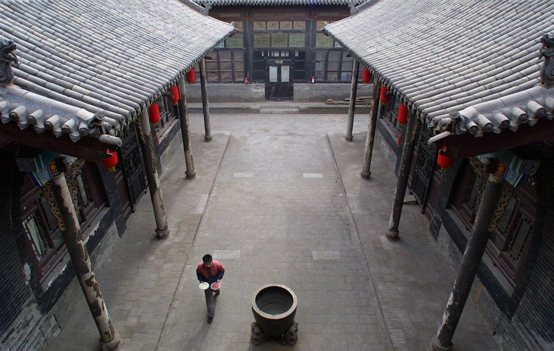 资料图片:山西省平遥市古城的一所传统四合院。(路透社)