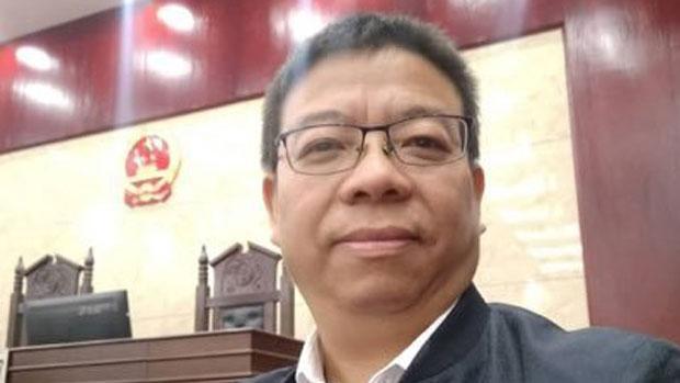 曾经代表卢昱宇案件的律师萧云阳。(推特图片 / #萧云阳 )