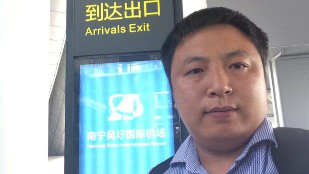 中国维权律师陈建刚(推特截图)