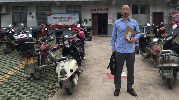 卢思位律师5月9日前往玉林市看守所,要求会见陈家鸿。(覃永沛律师提供)