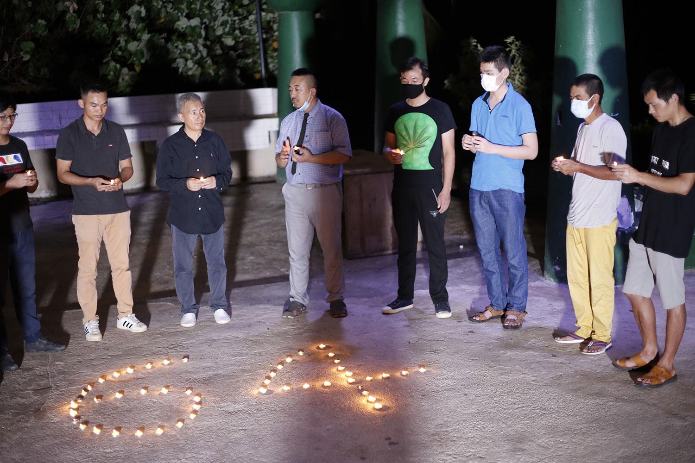 中国异议人士举行六四烛光晚会。(志愿者提供/记者乔龙)