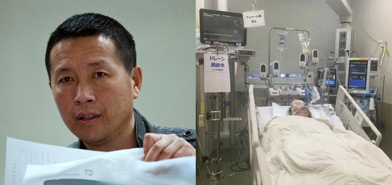 左图:被吊销执业证的北京维权律师唐吉田过去十年来一直不能自由出境。(美联社);右图:近期唐吉田旅居日本的女儿身患重病。(民生观察)