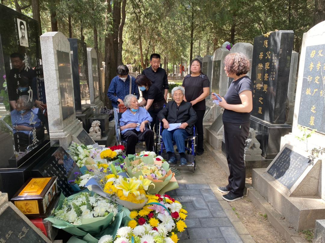 北京萬安公墓安放者8位六四遇難者骨灰。(自願者提供)