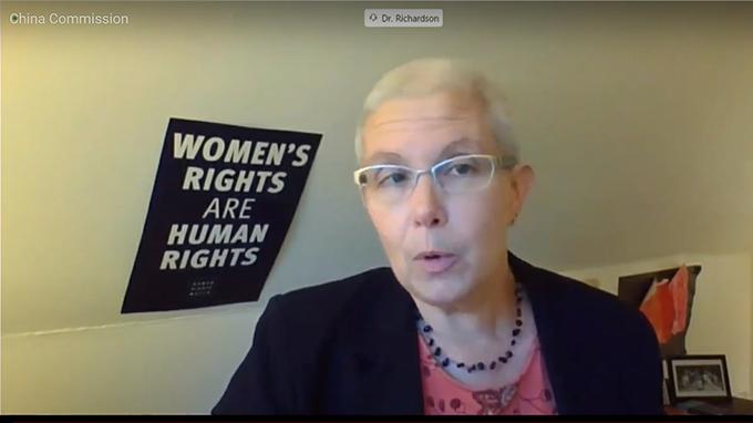 国际人权组织人权观察中国部主任理查森(Sophie Richardson )(视频截图)