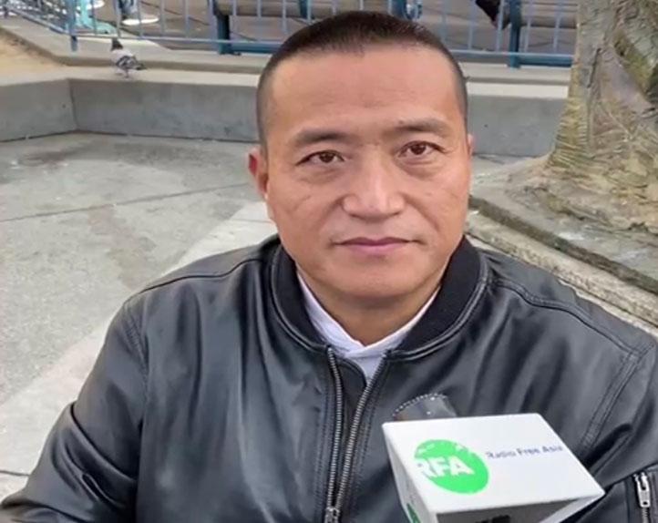 新闻发布会后,方政接受本台记者采访。(孙诚拍摄)
