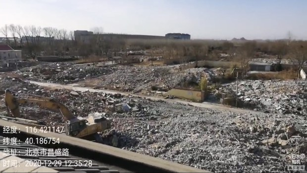北京小汤山强拆事件:小区一半被毁  居民决心坚守到底