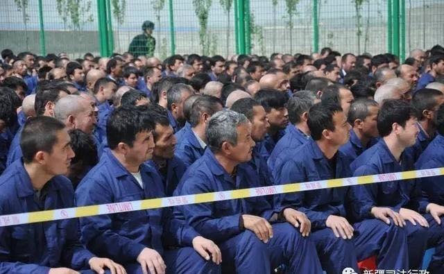 """新疆的一所""""再教育营""""(新疆司法行政微博)"""