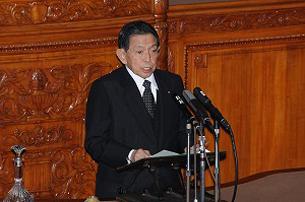 图片:日本第175届临时国会30号召开,日本民主党议员西冈武夫当选参议院议长。(南洲提供)