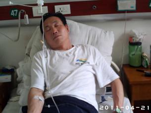 图片:王战虎牧师被公安打伤后,病情恶化(基督徒提供/记者乔龙)
