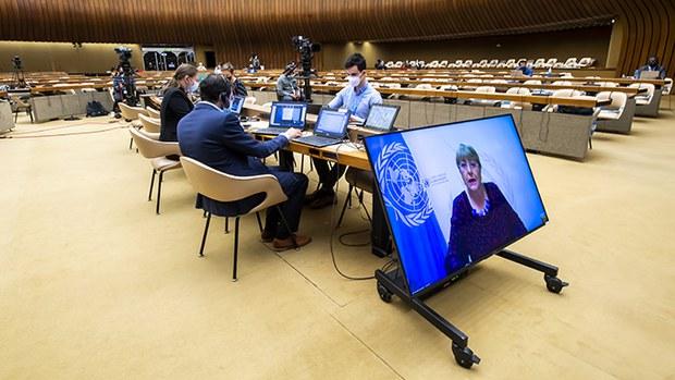 正在举行会议的联合国人权理事会