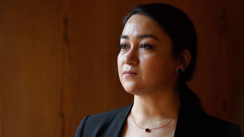 伊力哈木的女儿菊尔(Jewher Ilham)(AFP)