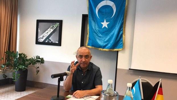 世界维吾尔代表大会发言人迪里夏提。(图片由迪里夏提供)