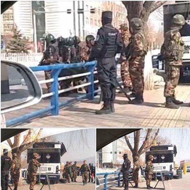 军警2017年3月驻守同仁县的场景(受访人早前提供)