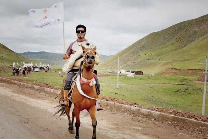 青海澤庫縣藏人康卓才丹曾被捕前(消息人士提供)