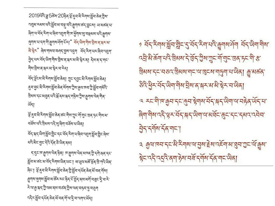西南民族大学藏生对藏文答题不得分提出质问(受访人提供)