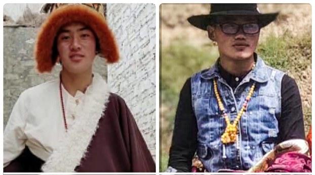 因示威而被捕的四川省甘孜州石渠县藏人云丹(右)和拉杰(左)(受访人提供)