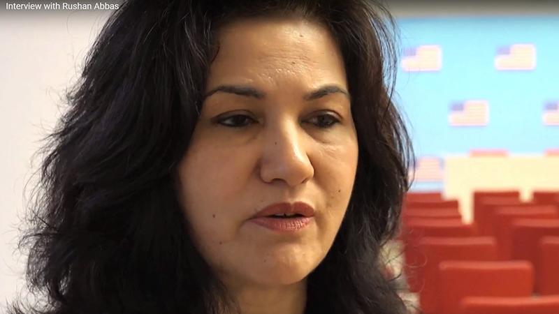 美国维吾尔活动人士罗珊•阿巴斯(Rushan Abbas) (视频截图)
