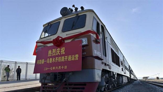 资料图片:新疆首府乌鲁木齐至北部阿勒泰地区的铁路2017年开通。有报道称,当局正通过铁路大规模转移穆斯林民众。 (Public Domain)