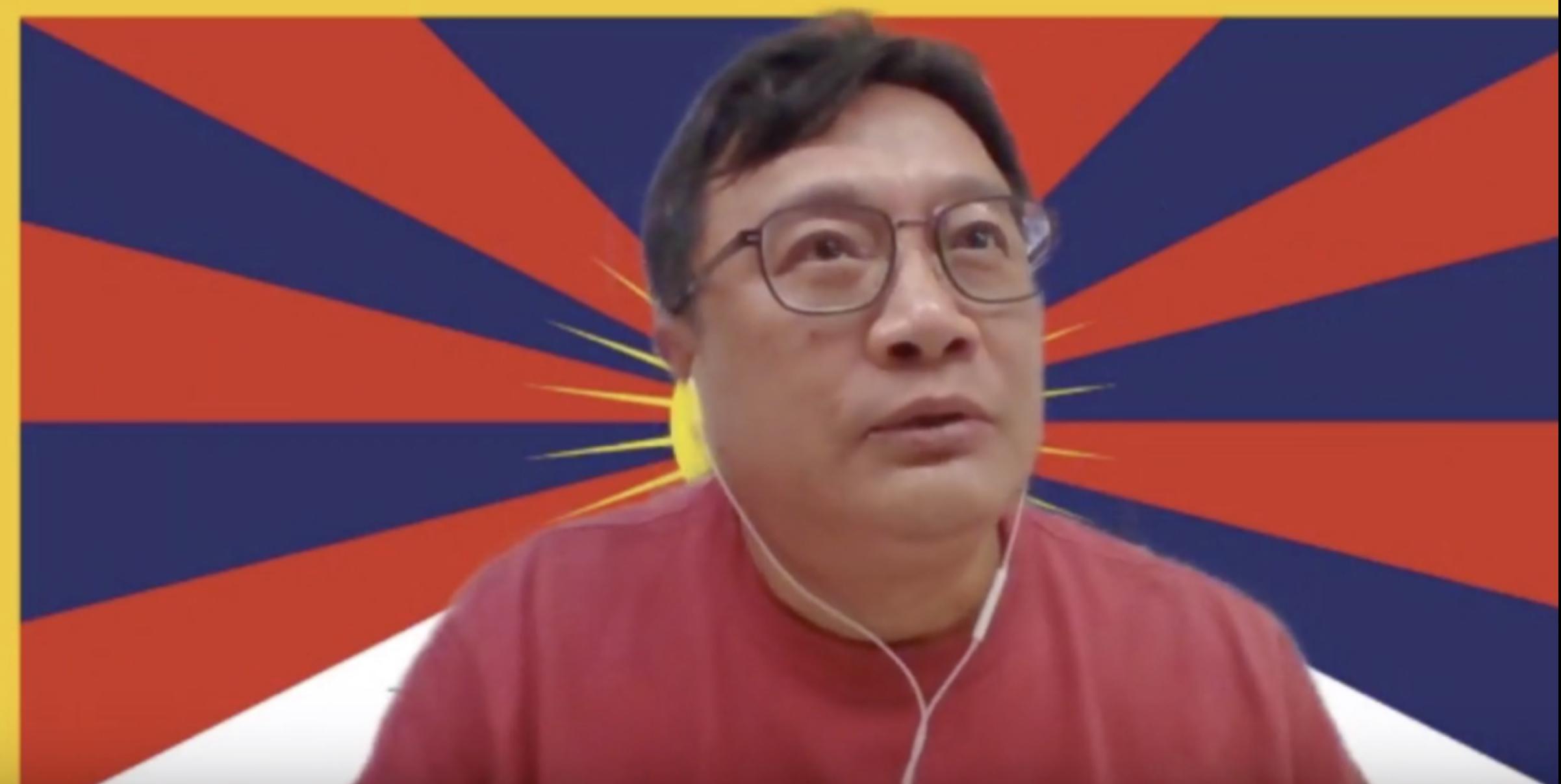 西藏臺灣人權連線常務理事吳豪人。(西藏臺灣人權連線臉書)