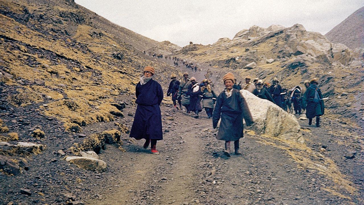图片:西藏精神领袖达赖喇嘛1959年被迫流亡印度。(达赖喇嘛西藏宗教基金会提供)
