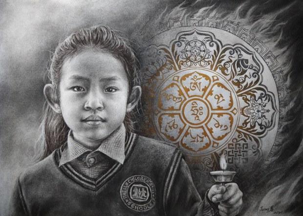 以碳筆捍衛西藏人權  台灣女生細說藏人真實歷史