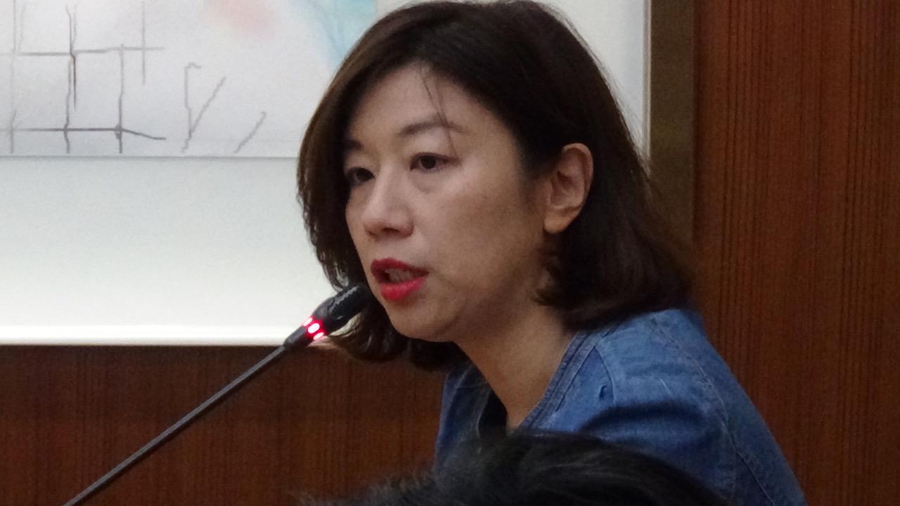 民进党籍立委林静仪出席古力巴哈记者会。(记者夏小华摄)