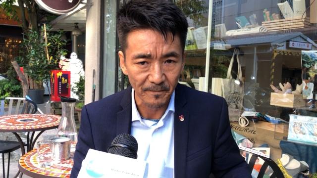 西藏台湾人权连线理事长札西慈仁认为,中共办再多爱国教育,在西藏都不会成功。(记者夏小华摄)