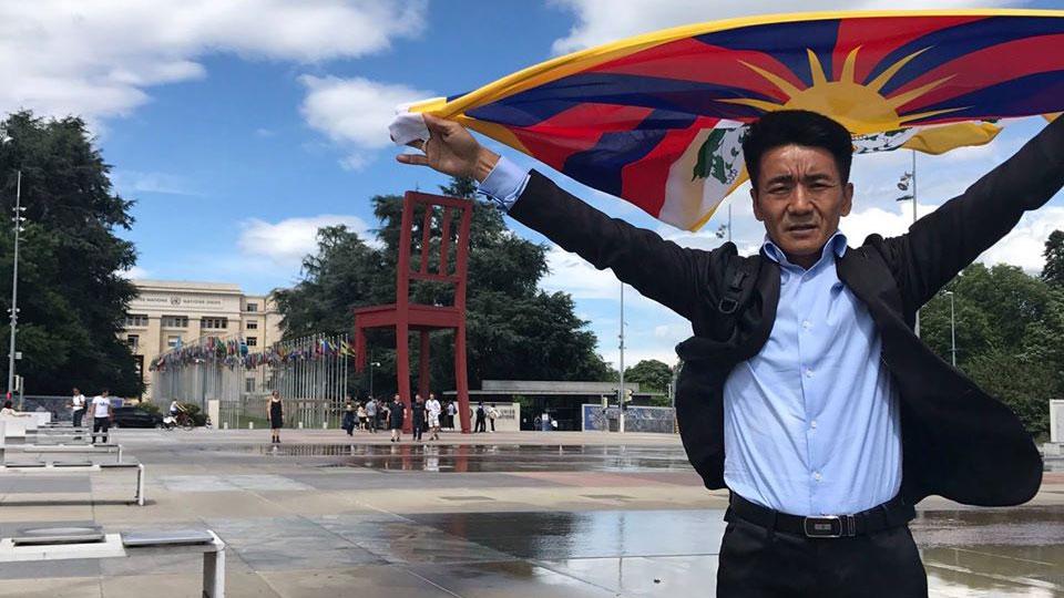 台湾国际特赦组织理事、在台藏人札西慈仁。(札西慈仁脸书)