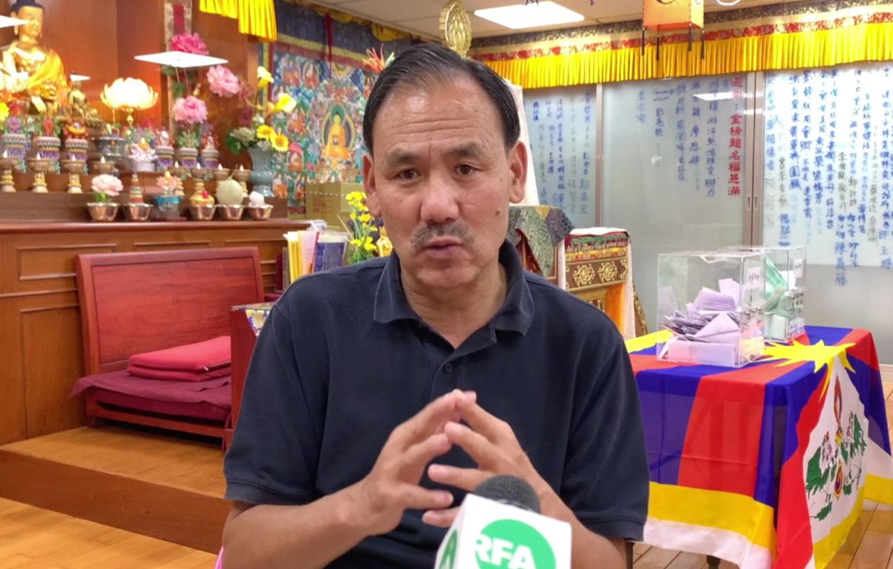 准藏人行政中央驻台代表格桑坚参。(记者夏小华摄)
