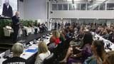 聯合國舉辦的一場討論會。中國官方正高調阻止會員國參與聯合國的涉疆會議。