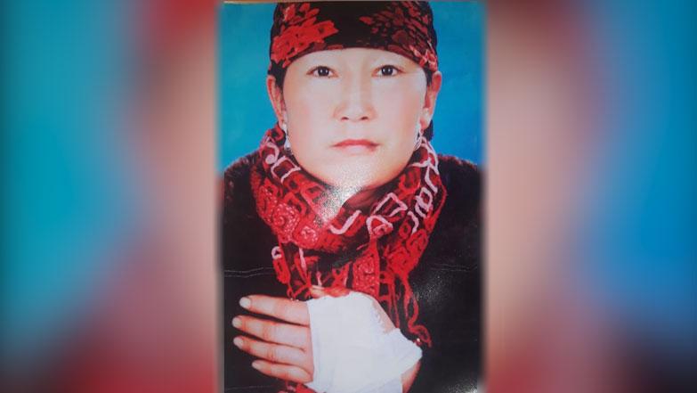 新疆巩留县女子哈萨克巴扎尔古丽.卡依丁被判刑10年。(志愿者提供/记者乔龙)
