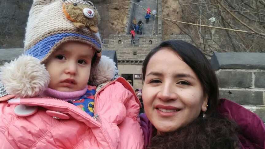 新疆哈萨克族巴给拉.奥拉白(小妹)被判刑15年。(家属提供/记者乔龙)