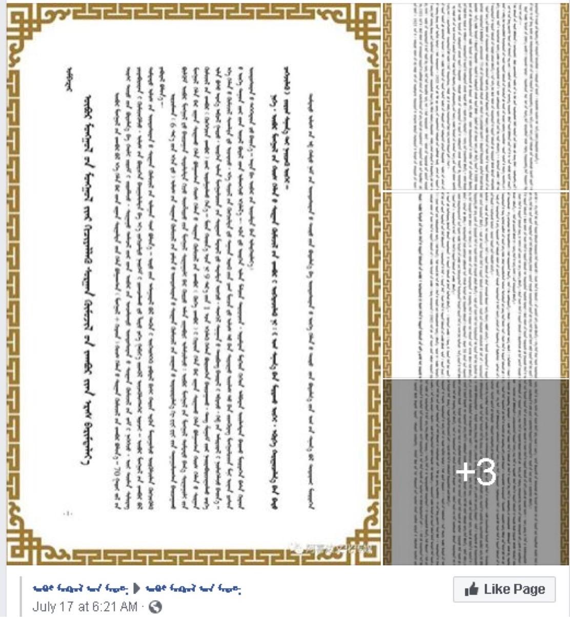 蒙古族人抗议当局禁止出版蒙古文杂志。(视频截图/乔龙提供)
